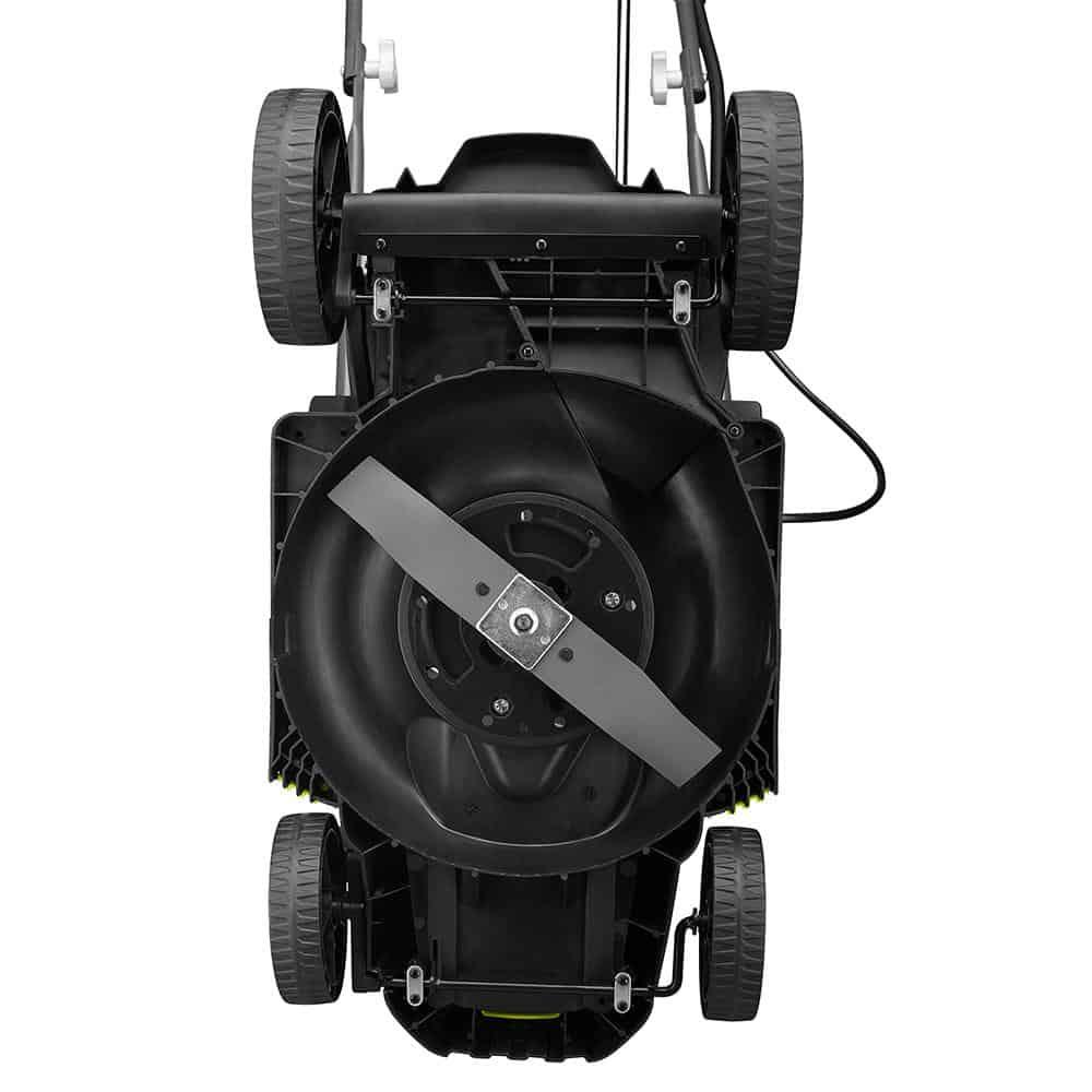 Ryobi 18V push lawn mower underneath