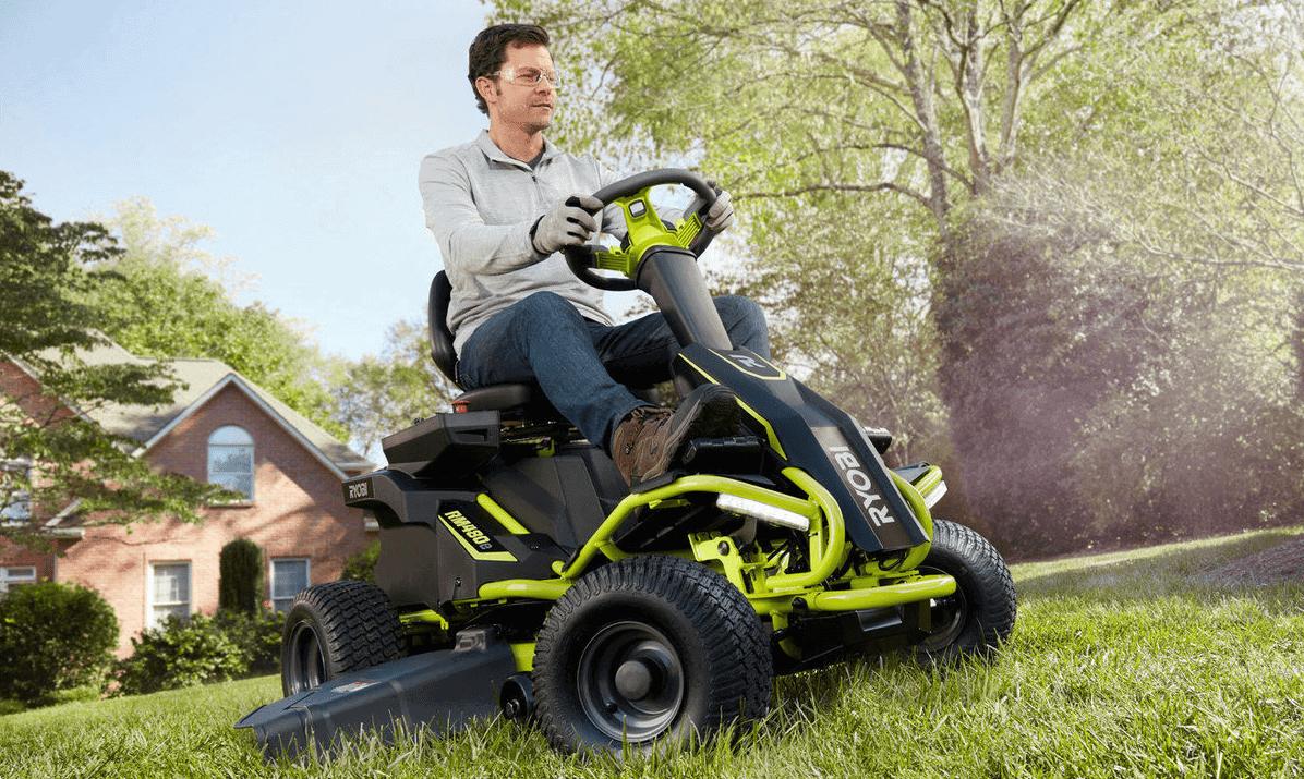 Ryobi Battery Powered Ride On Lawn Mower