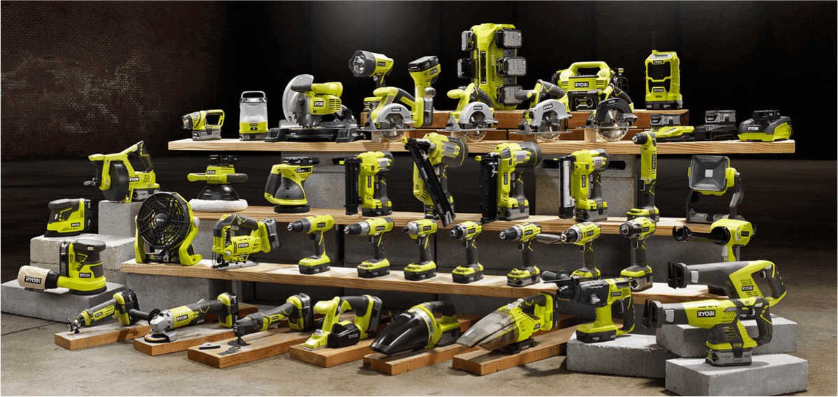 Ryobi One+ Battery Powered Tool Range