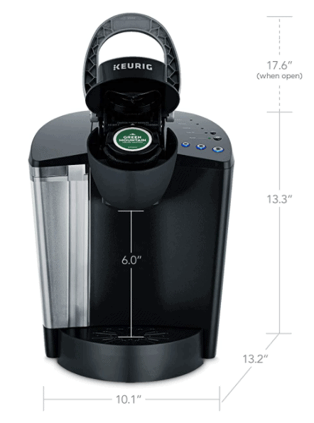 K-Classic (K50) Coffee Maker - Black Dimensions