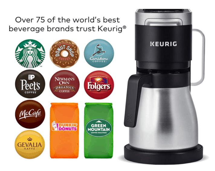 Keurig K-Duo Plus K-Cup Coffee Choices