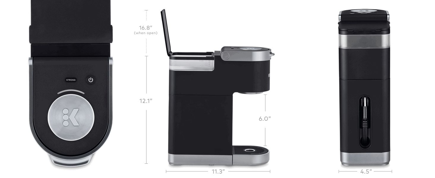 How big is the Keurig K-Mini?
